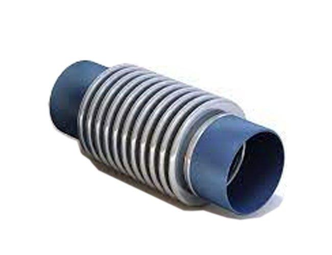 Junta de expansão axial com pontas para solda metálica